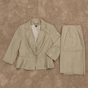 White House Black Market Khaki Suit
